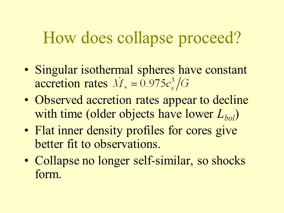 How does collapse proceed.