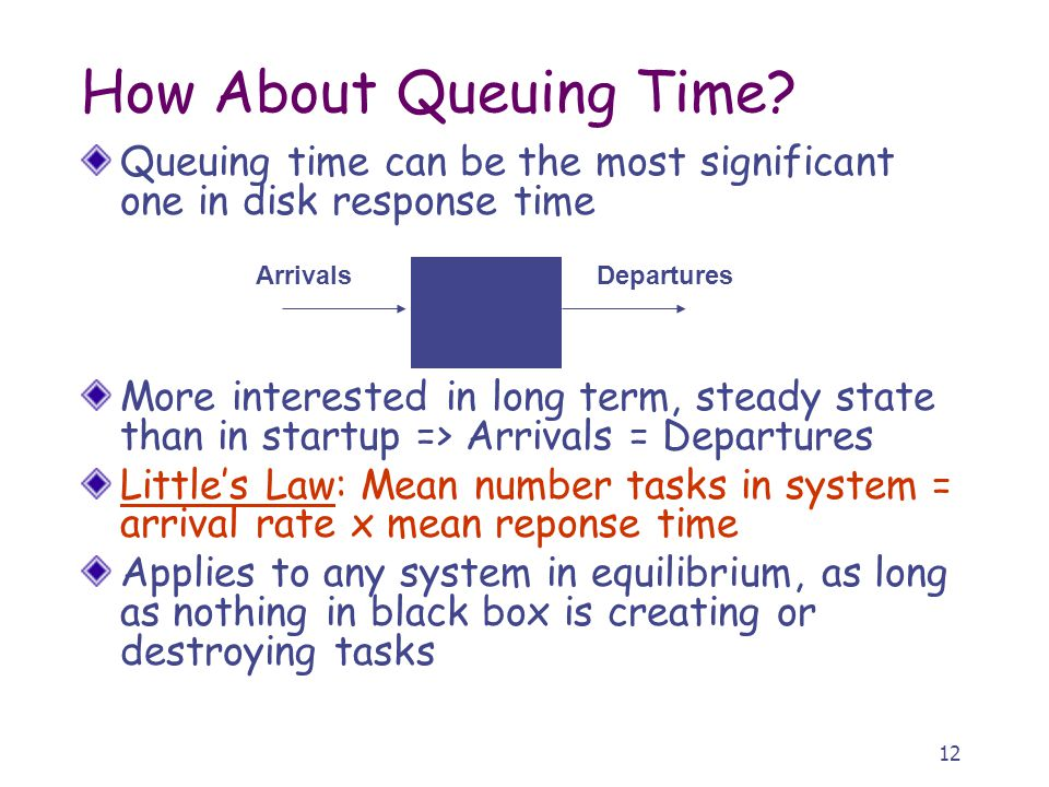12 How About Queuing Time.
