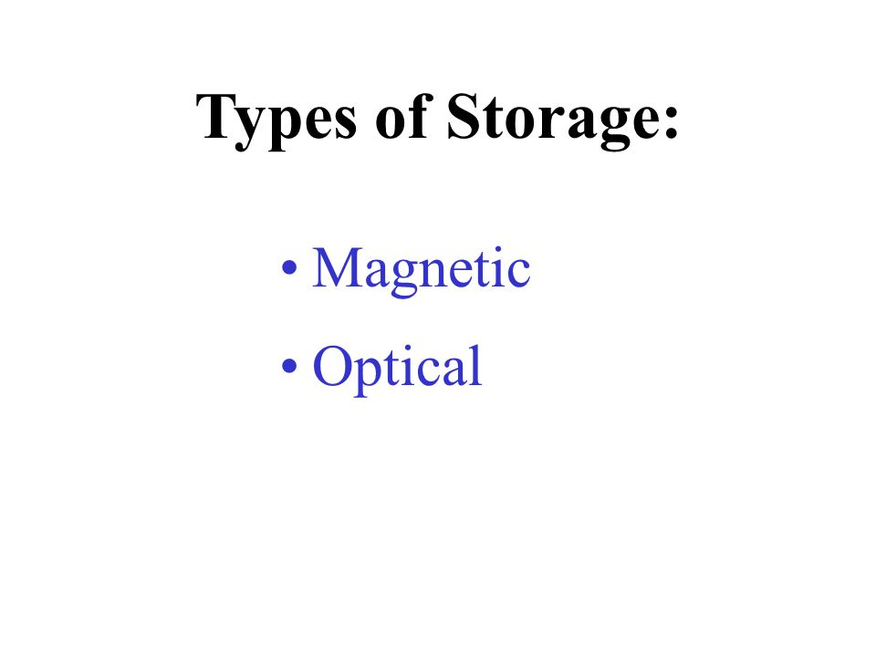 Storage Devices - the hardware components that write data to, and read it from, storage media.