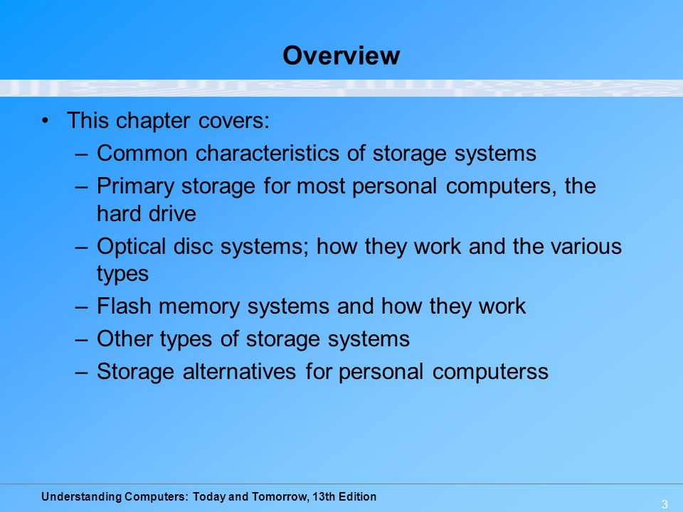 Understanding Computers: Today and Tomorrow, 13th Edition 24 Quick Quiz 1.