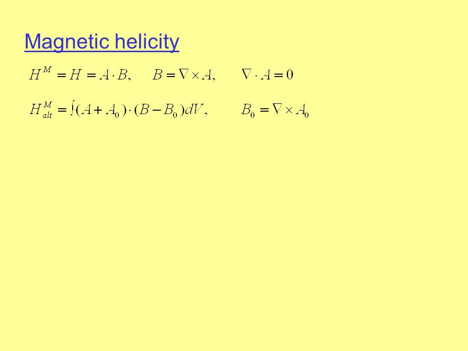 Magnetic helicity