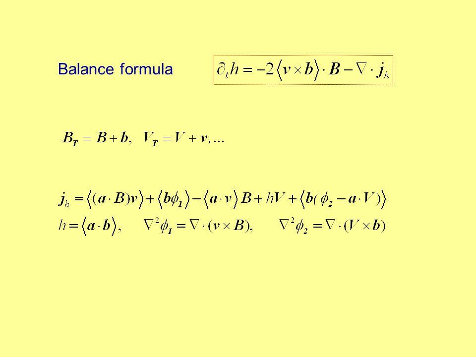 Balance formula