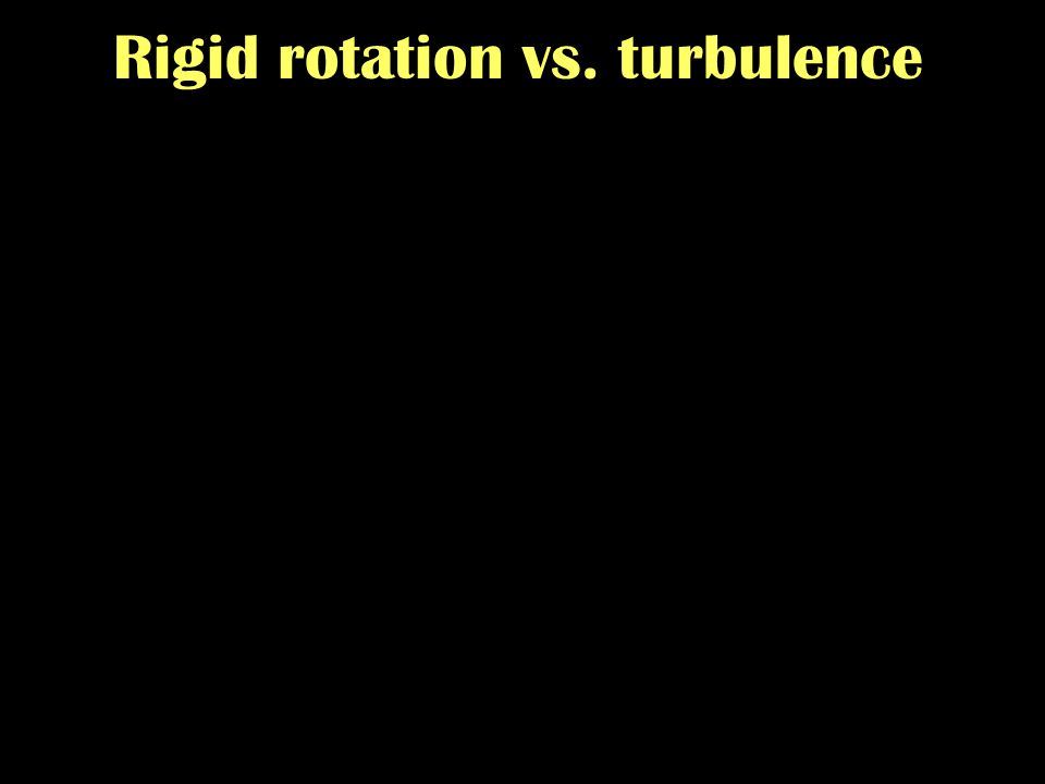 From protostellar cores to disk galaxies - Zurich - 09/2007 Rigid rotation vs. turbulence