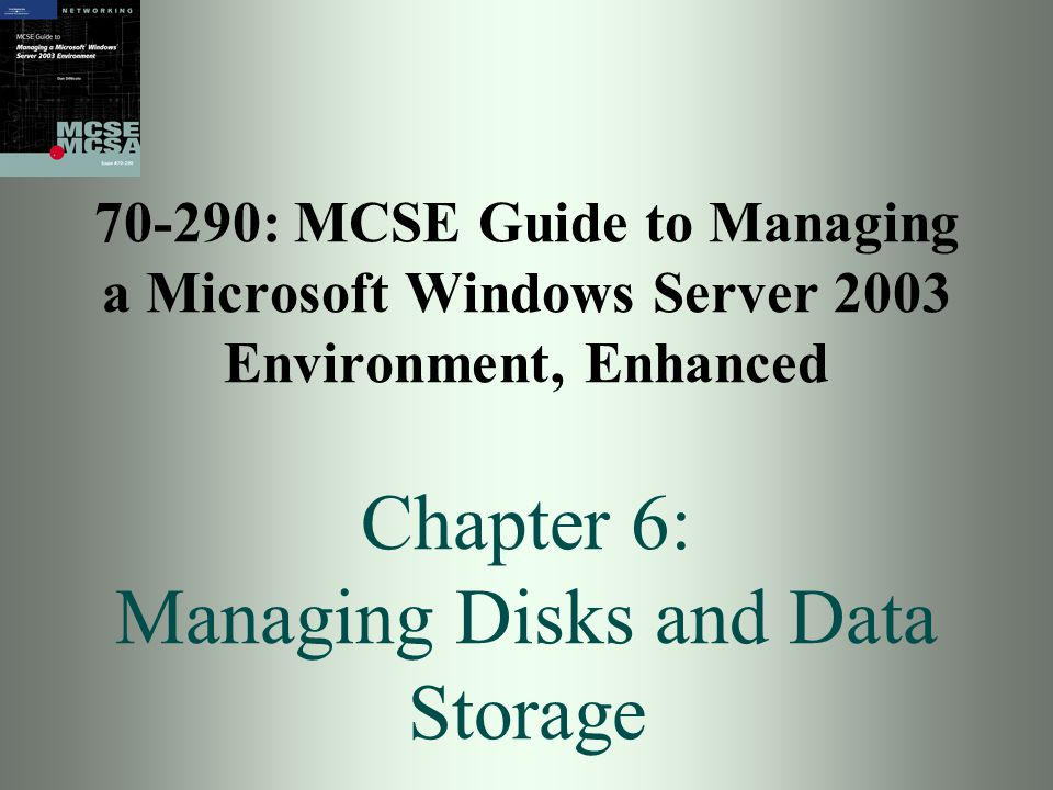 Guide to MCSE 70-290, Enhanced22 Activity 6-6: Creating a Simple Volume Objective: To create a simple volume on a dynamic disk Create using New Volume Wizard Format in NTFS file system Assign a drive letter