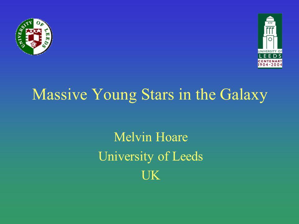 Outline Introduction –Massive YSOs High resolution observations The RMS Survey –Galaxy-wide survey for massive YSOs Next generation galactic plane surveys –UKIDSS GPS, SCUBA2, CORNISH Conclusions