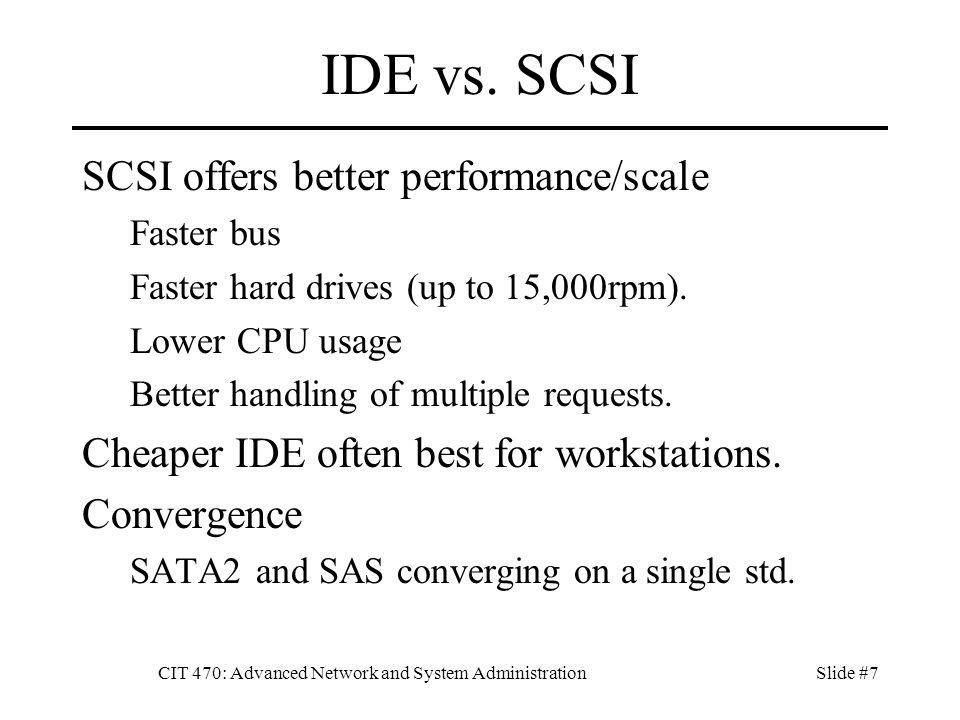 CIT 470: Advanced Network and System AdministrationSlide #48 fstab # /etc/fstab: static file system information.