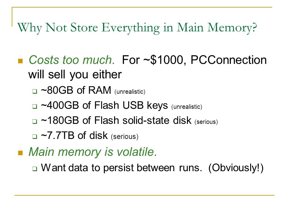 Summary (Contd.) DBMS vs.