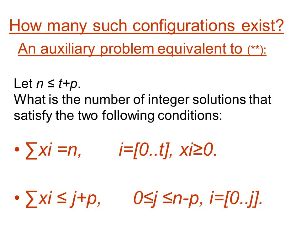 An auxiliary problem equivalent to (**): Let n t+p.