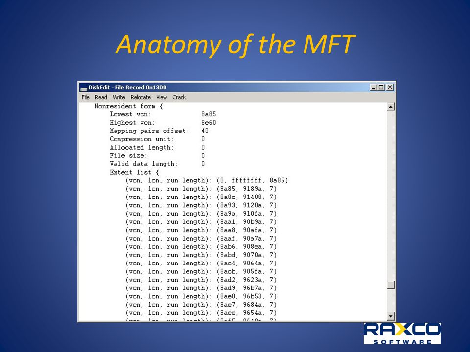 Anatomy of the MFT
