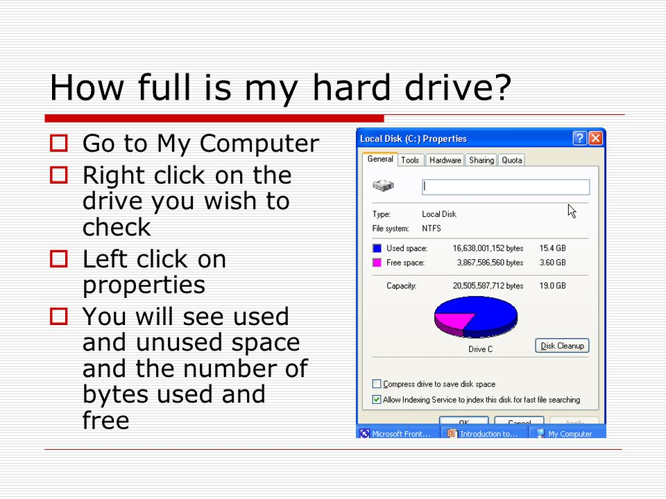 How full is my hard drive.