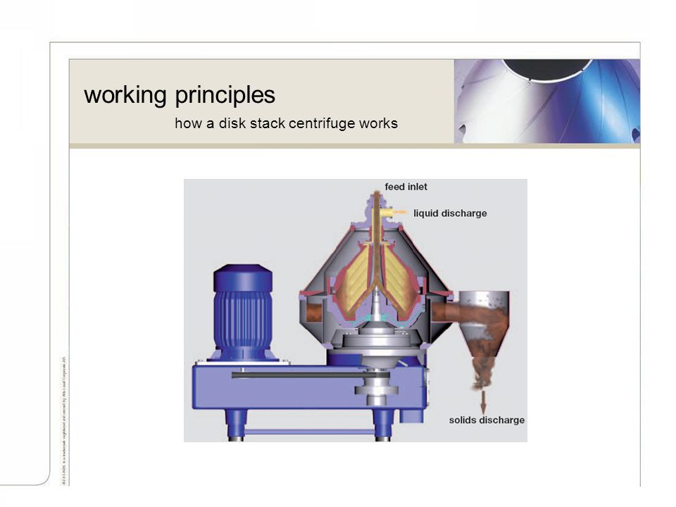 working principles how a disk stack centrifuge works