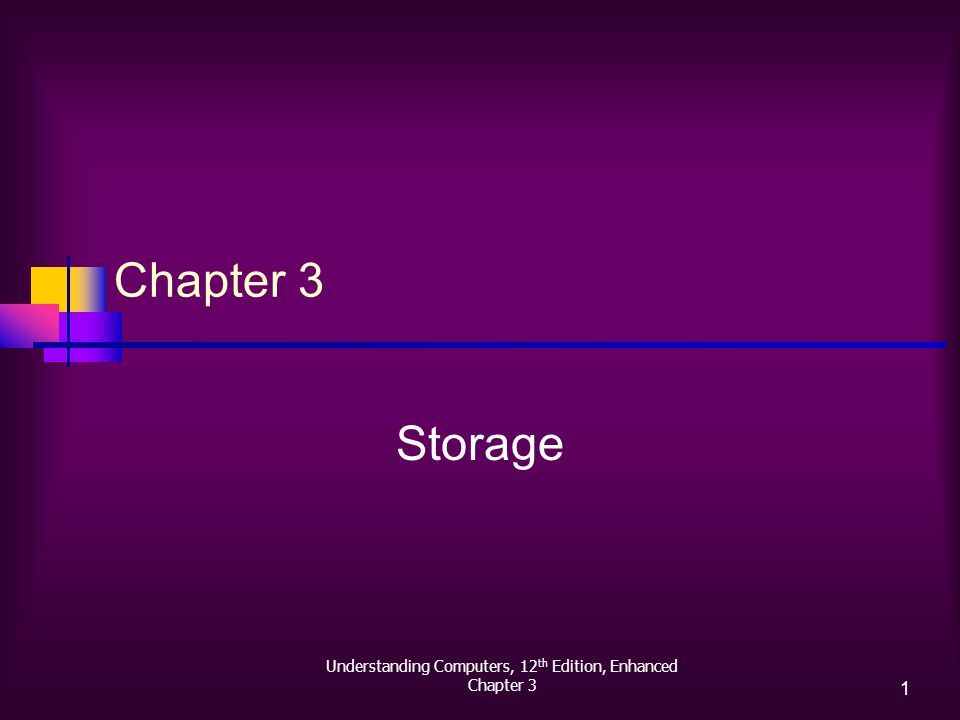 Understanding Computers, 12 th Edition, Enhanced Chapter 3 1 Storage