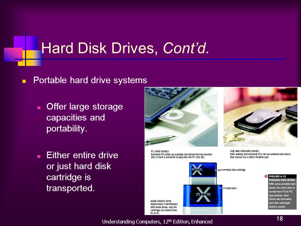 Understanding Computers, 12 th Edition, Enhanced 18 Hard Disk Drives, Contd.