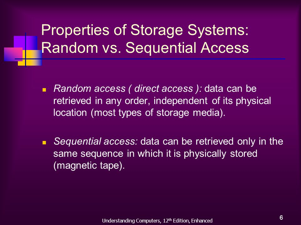Understanding Computers, 12 th Edition, Enhanced 7 Properties of Storage Systems: Logical vs.
