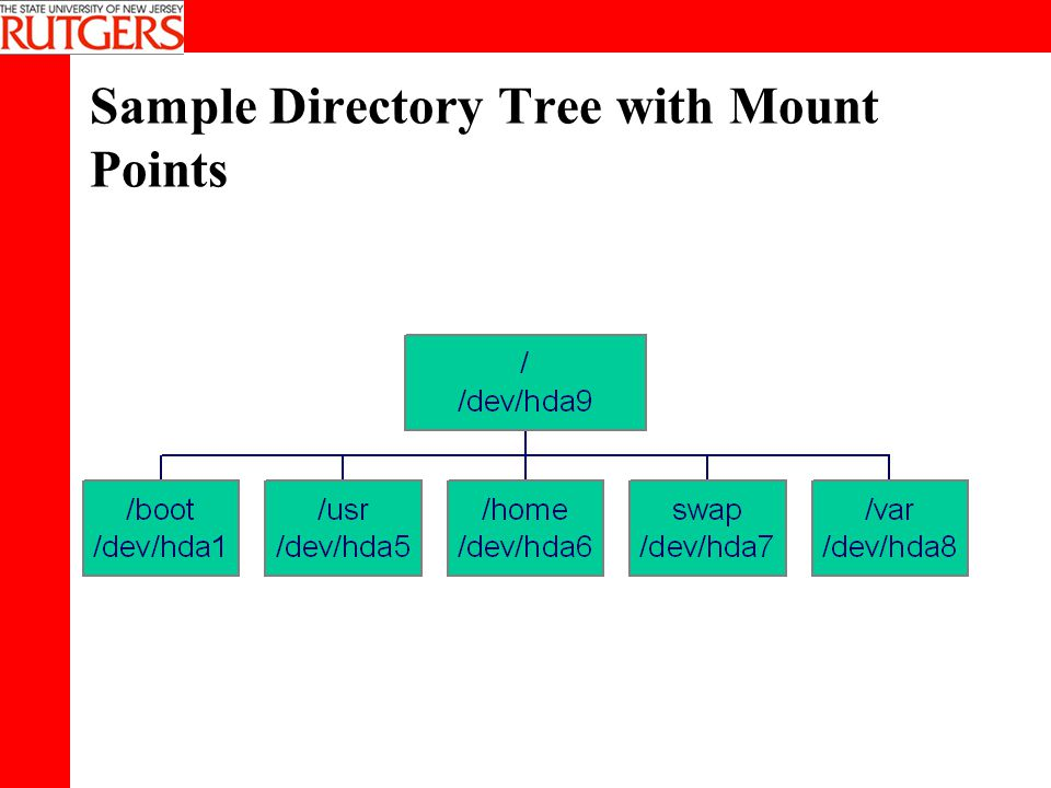 Sample Directory Tree with Mount Points
