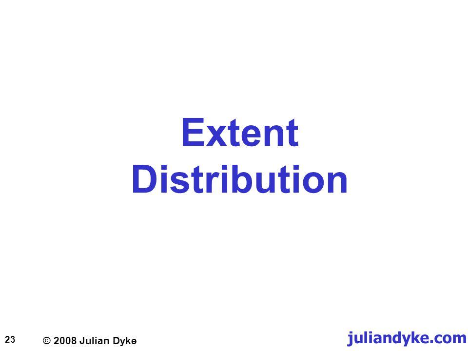 © 2008 Julian Dyke juliandyke.com 23 Extent Distribution