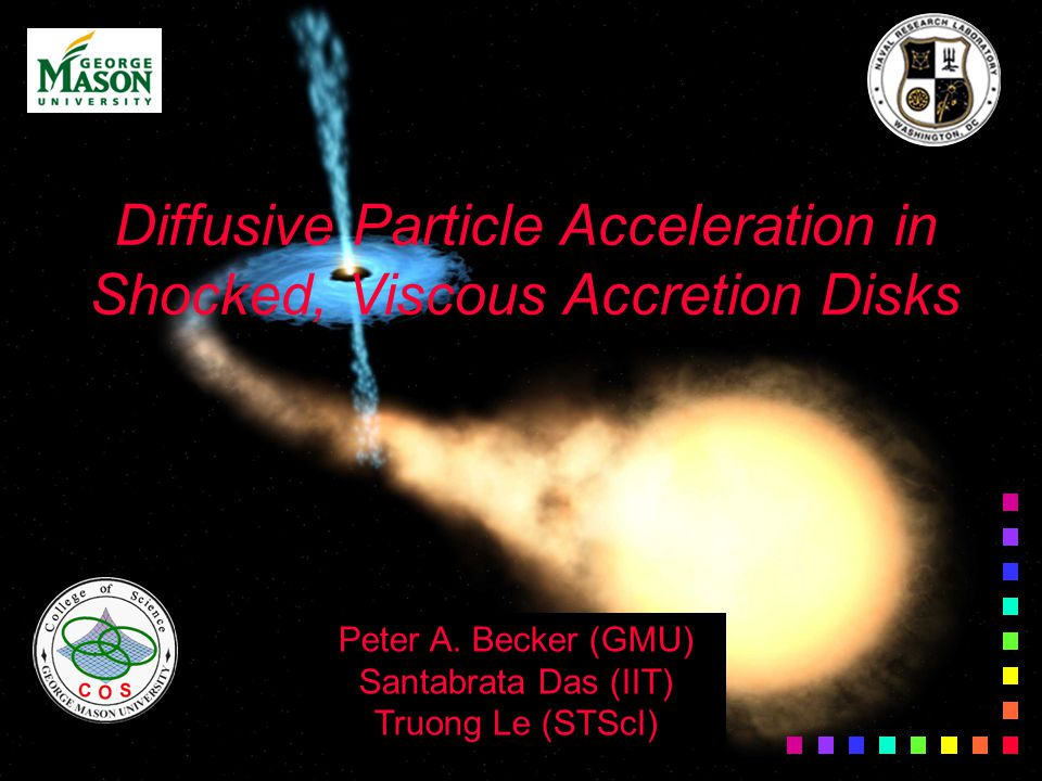 Diffusive Particle Acceleration in Shocked, Viscous Accretion Disks Peter A.