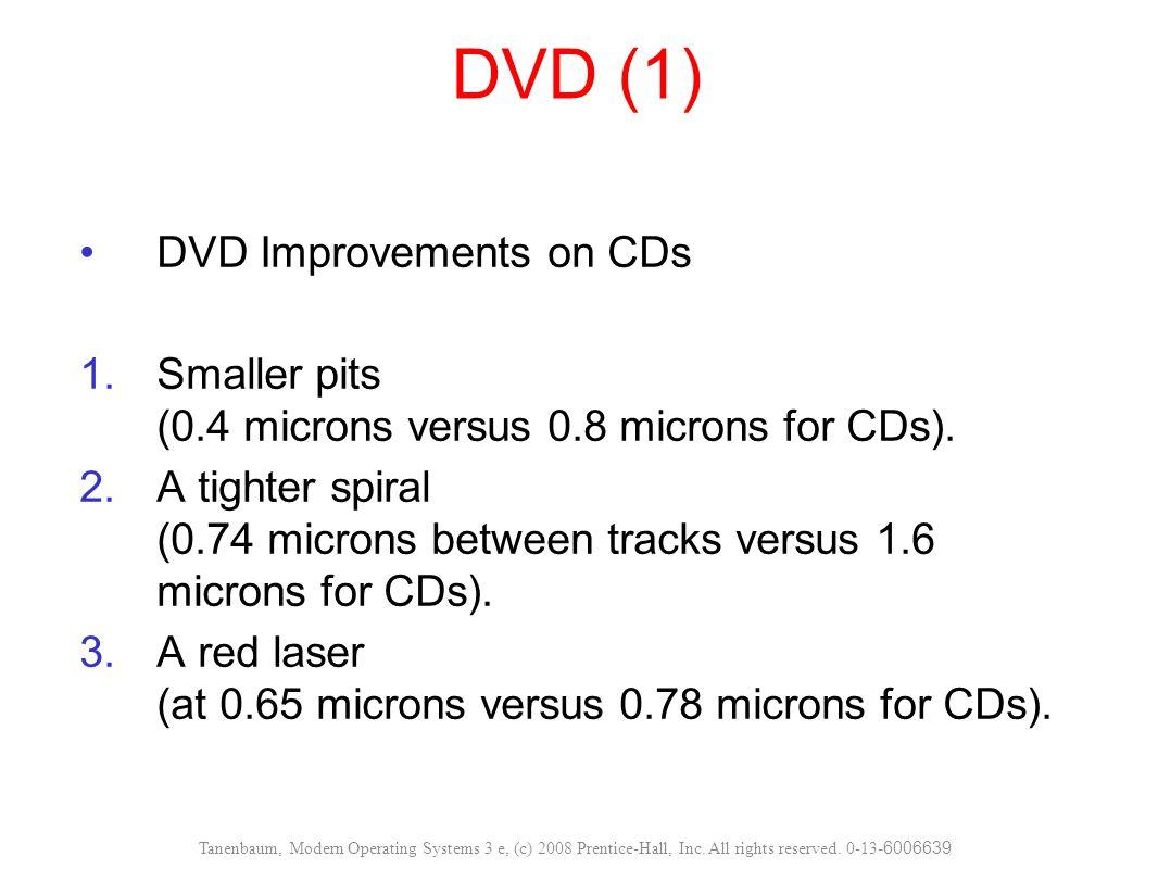 DVD (2) DVD Formats 1.Single-sided, single-layer (4.7 GB).