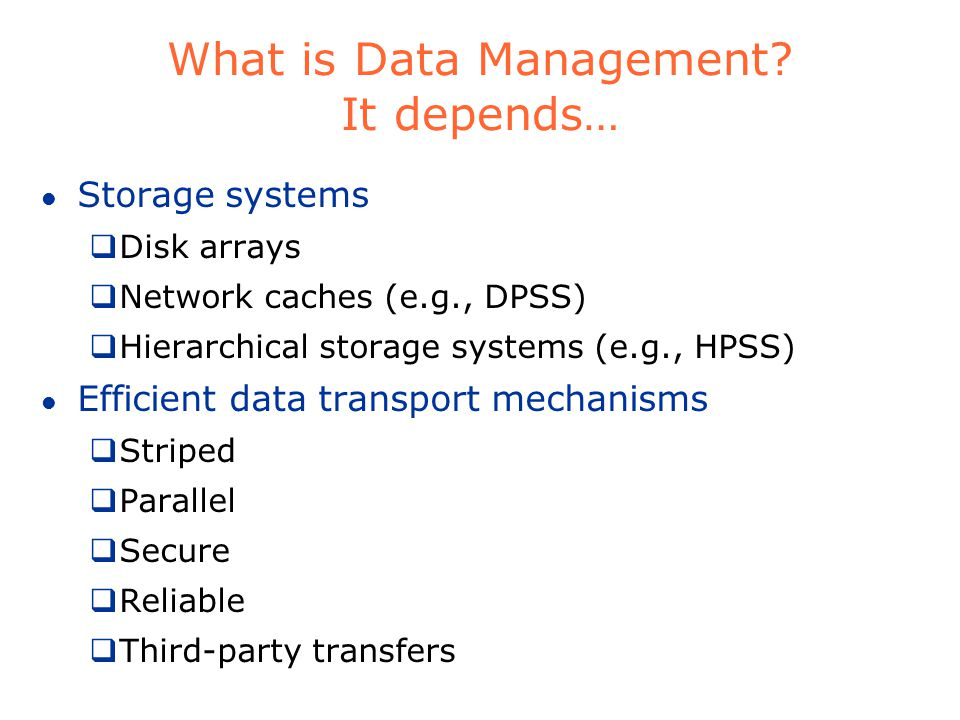 What is data management.