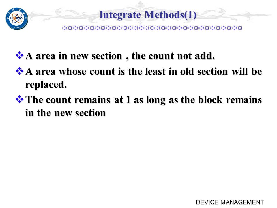 DEVICE MANAGEMENT Integrate Methods(1)