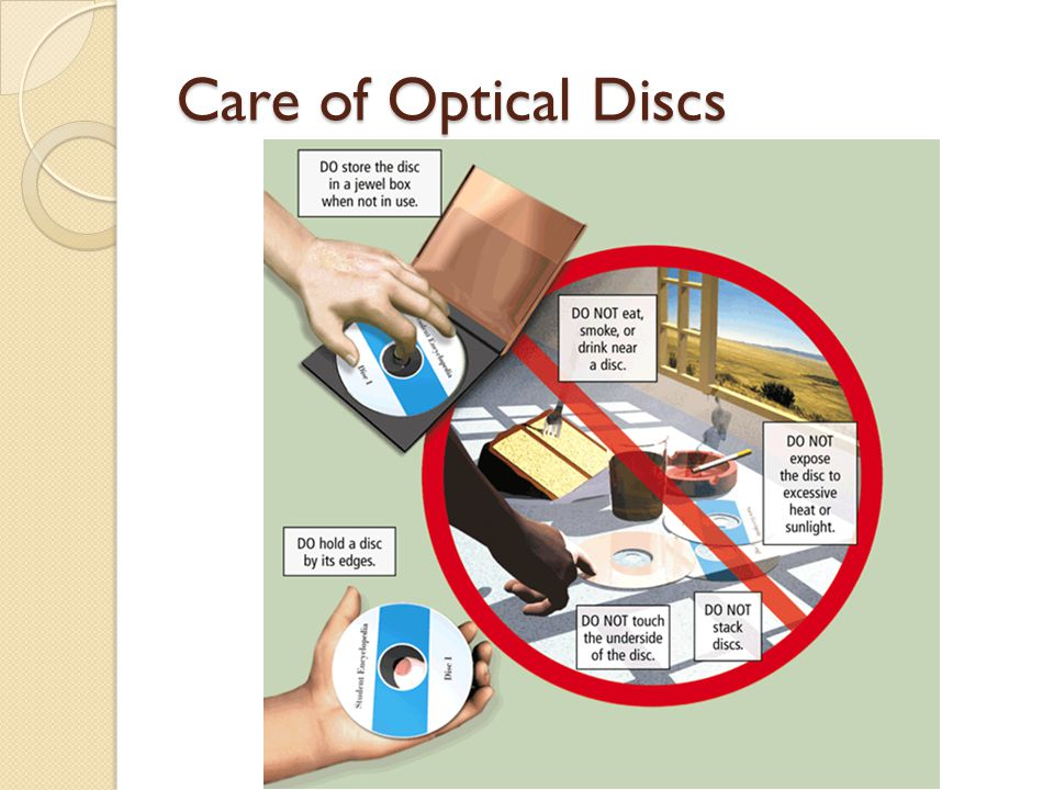 CDs A CD-ROM (compact disc read-only memory) is a type of optical disc that users can read but not write or erase.