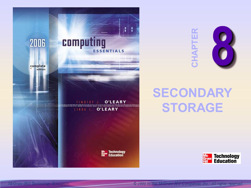 McGraw-Hill Technology Education © 2006 by the McGraw-Hill Companies, Inc. All rights reserved. 88 CHAPTER SECONDARY STORAGE