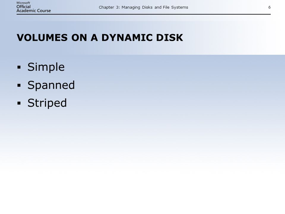 Chapter 3: Managing Disks and File Systems27 SUMMARY (CONTINUED) Protect the EFS recovery agents certificate to avoid losing files.