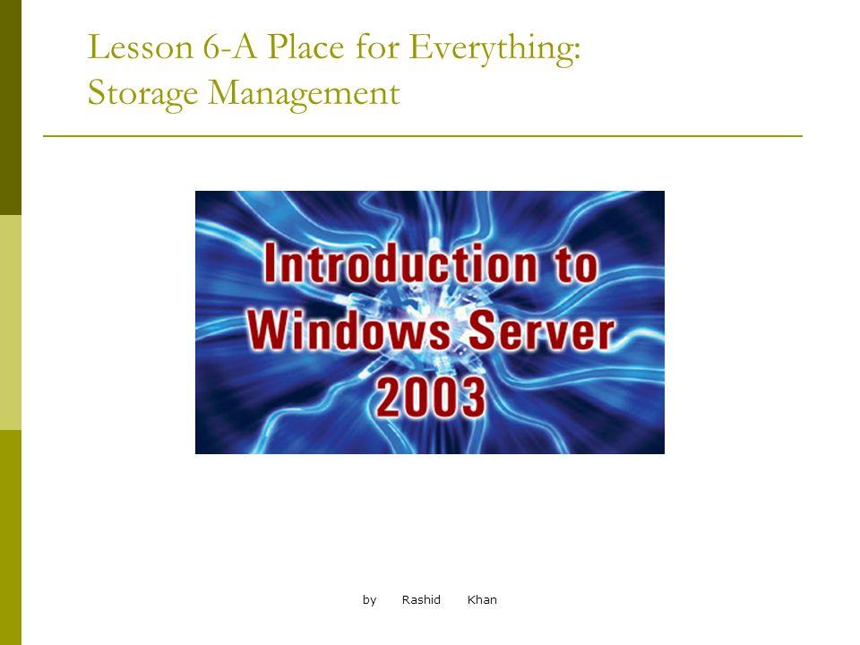 by Rashid Khan Troubleshooting Storage Problems Disk errors.