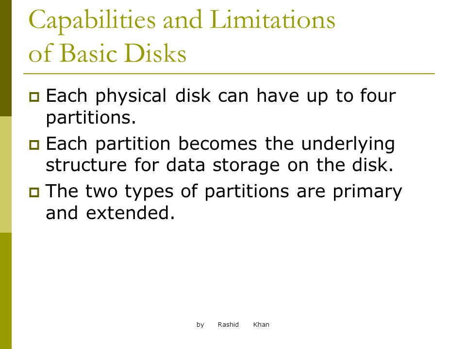by Rashid Khan Volumes That Improve Performance Striped volumes can be used to improve the performance of a server.