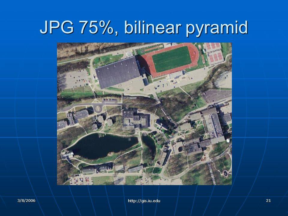 3/8/2006 http://gis.iu.edu 21 JPG 75%, bilinear pyramid