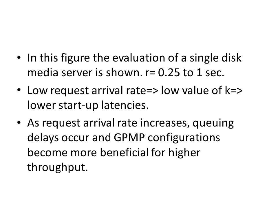 In this figure the evaluation of a single disk media server is shown.