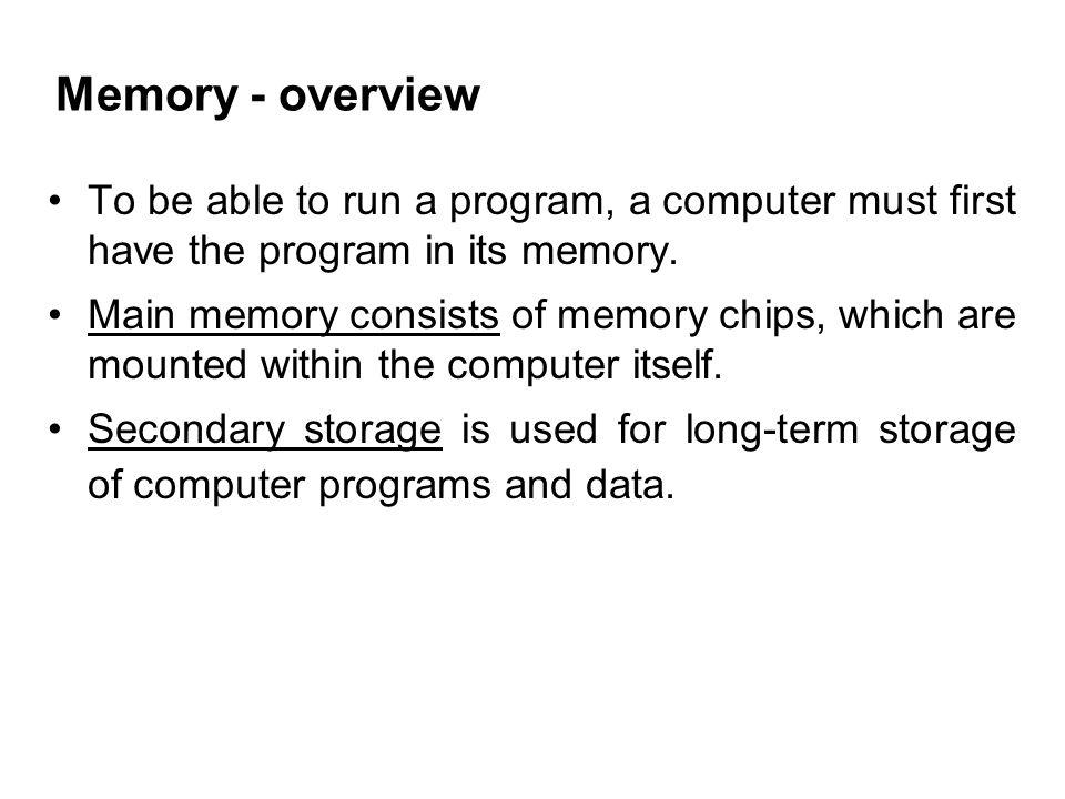 Cache memory is used to facilitate faster transfer of instructions and data to processor.