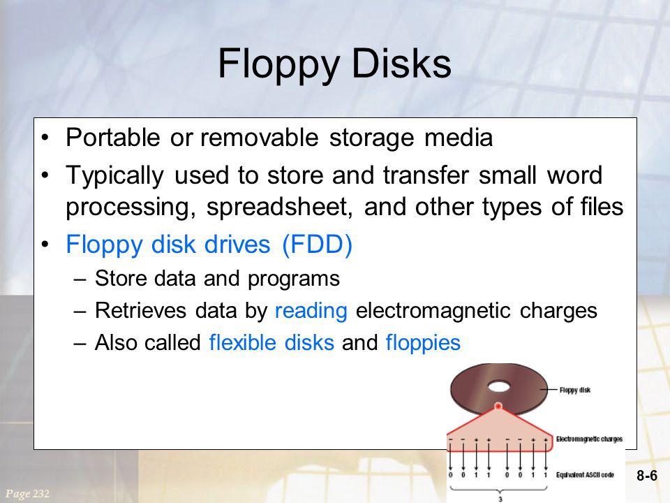 8-17 Digital Versatile Disc Digital Versatile Disc or Digital Video Disc (DVD) Similar to CDs, but can store more data Three basic types –Read only: DVD-ROM –Write once: DVD+R; DVD-R –Rewritable: DVD+RW; DVD-RW; DVD-RAM Page 239 Return