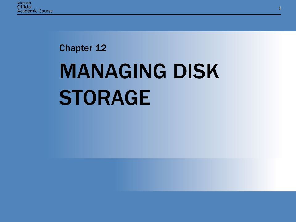Chapter 12: MANAGING DISK STORAGE2 CHAPTER OVERVIEW Understand disk-storage concepts and terminology Distinguish between basic and dynamic storage Identify the types of storage volumes supported on Windows Server 2003 managed disks Identify the best RAID implementation given a particular storage requirement in terms of capacity utilization, fault tolerance, and performance Add storage to a Windows Server 2003 computer Manage disks using Check Disk, Disk Defragmenter, and disk quotas Understand disk-storage concepts and terminology Distinguish between basic and dynamic storage Identify the types of storage volumes supported on Windows Server 2003 managed disks Identify the best RAID implementation given a particular storage requirement in terms of capacity utilization, fault tolerance, and performance Add storage to a Windows Server 2003 computer Manage disks using Check Disk, Disk Defragmenter, and disk quotas