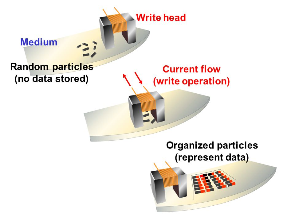 Magnetic Storage Devices - How Magnetic Storage Works A magnetic disk's medium contains iron particles, which can be polarizedgiven a magnetic fieldin