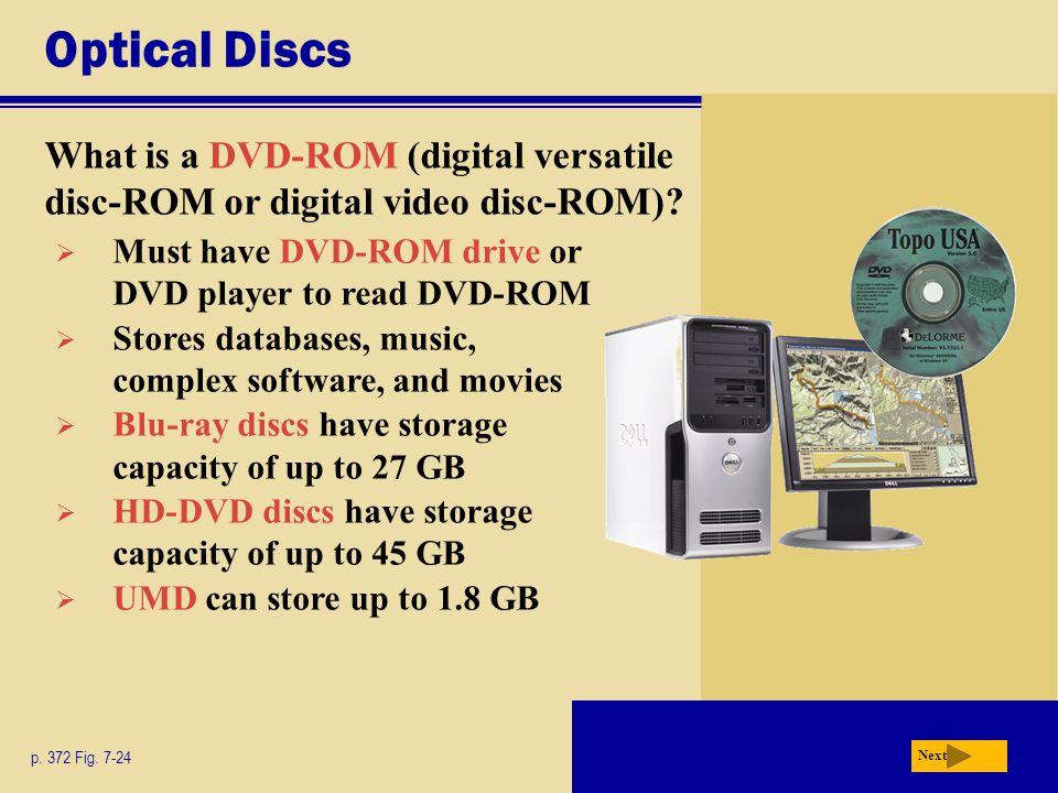 Optical Discs What is a DVD-ROM (digital versatile disc-ROM or digital video disc-ROM).