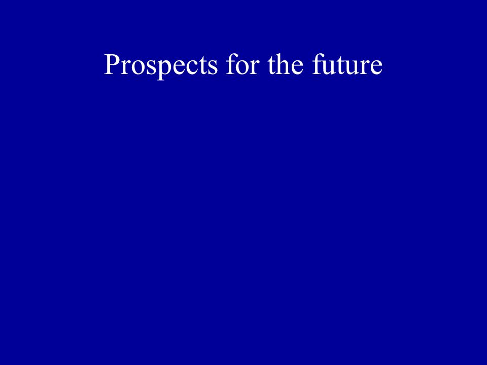 Prospects for the future
