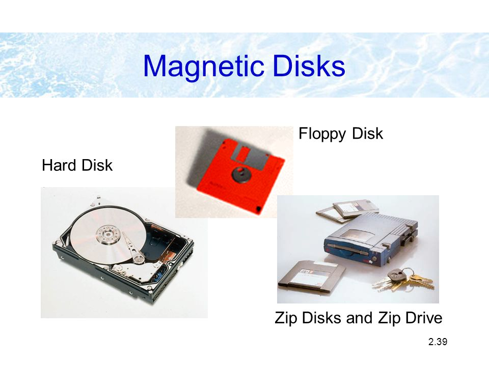 2.39 Hard Disk Magnetic Disks Floppy Disk Zip Disks and Zip Drive