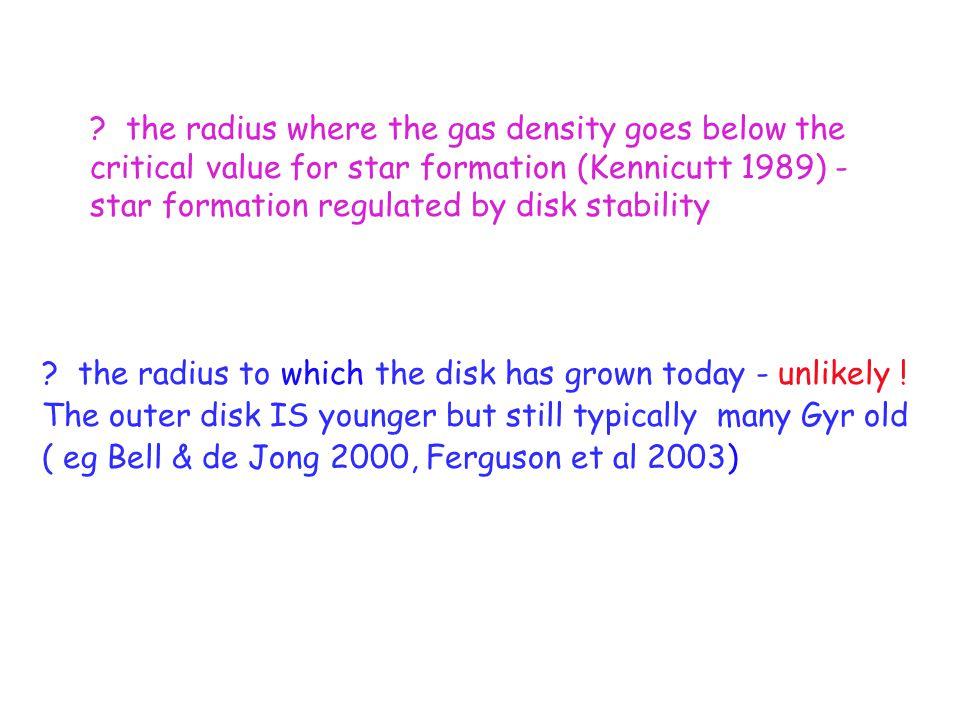 Interpretations of the truncation radius .