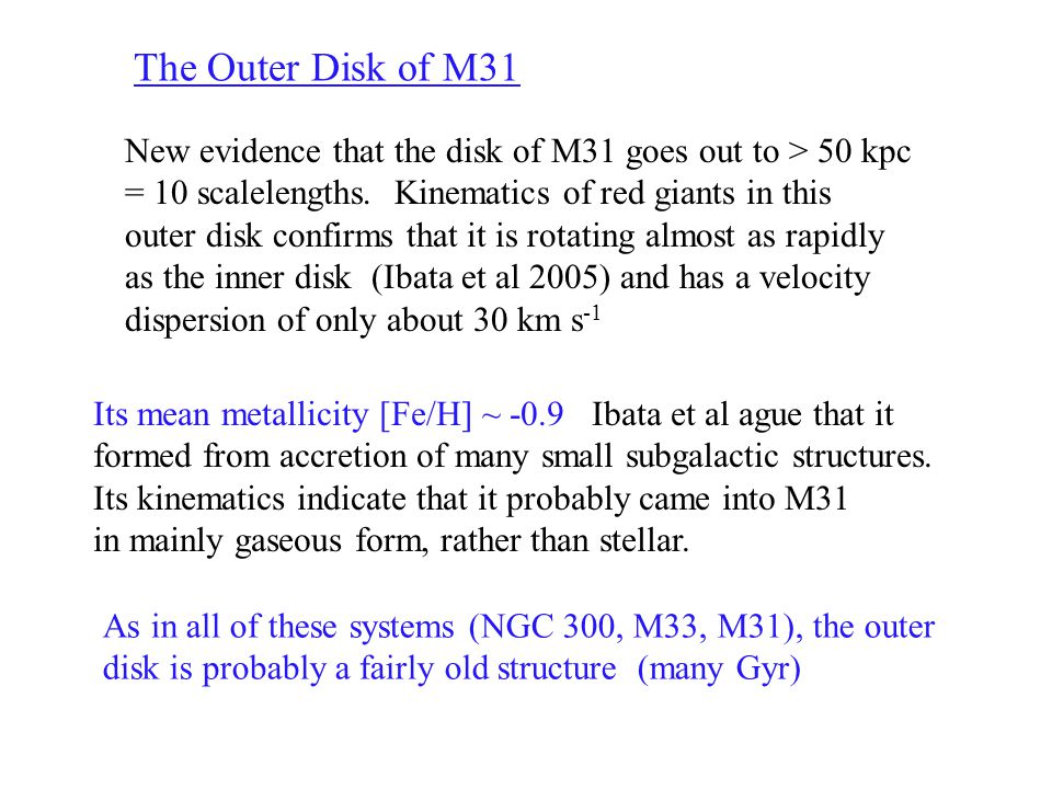 M83 GALEX (Thilker et al 2004) Star formation in the outermost disk of M83