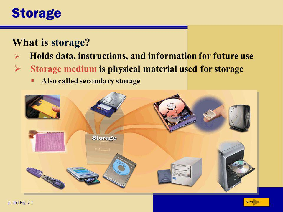 Magnetic Disks What is a hard disk.p. 360 Fig.
