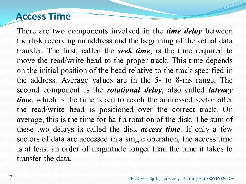 Optical Disks CENG 222 - Spring 2012-2013 Dr.