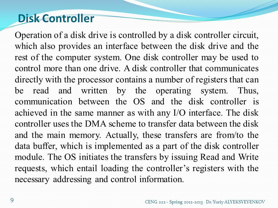 RAID Disk Arrays CENG 222 - Spring 2012-2013 Dr.