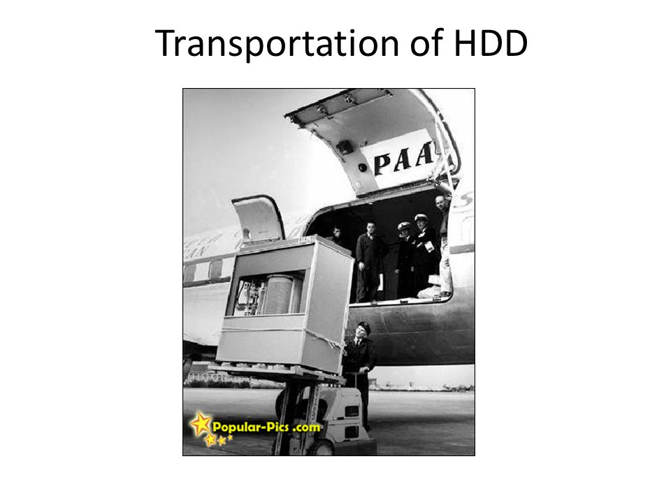 Transportation of HDD