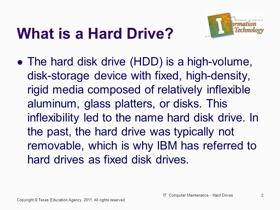 IT: Computer Maintenance - Hard Drives13 Storing the Data Data is stored on the surface of a platter in sectors and tracks.