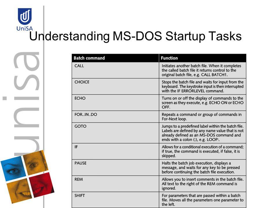 Understanding MS-DOS Startup Tasks