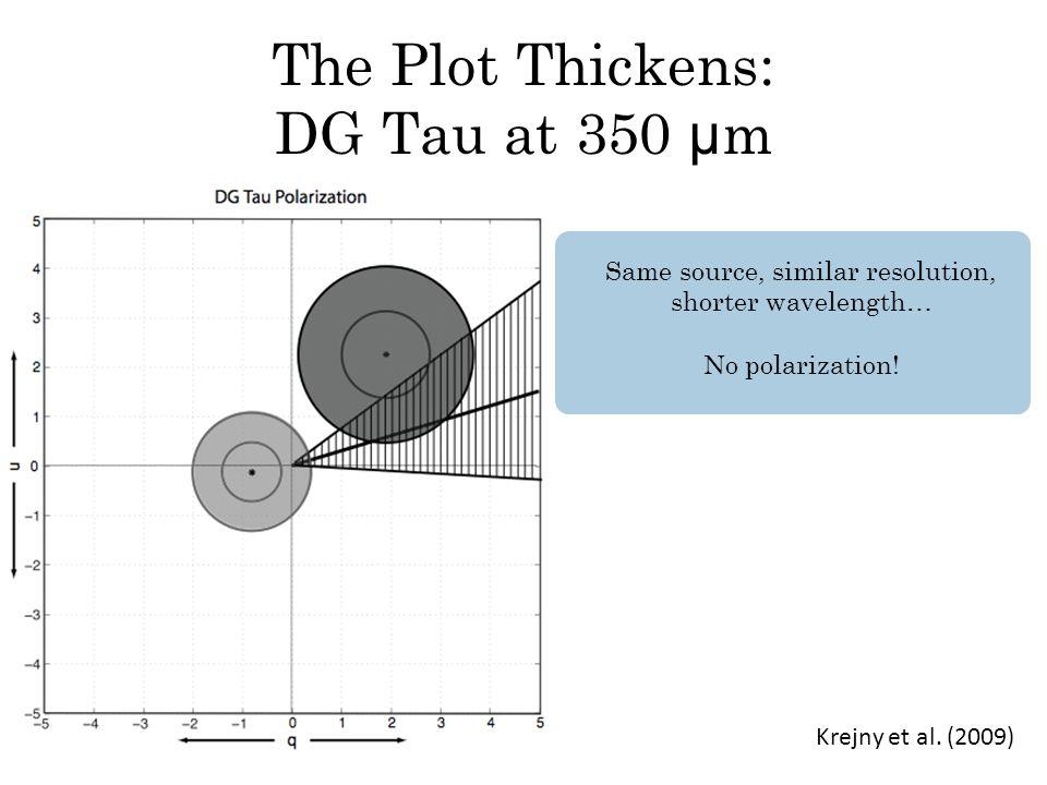 The Plot Thickens: DG Tau at 350 μ m Krejny et al.