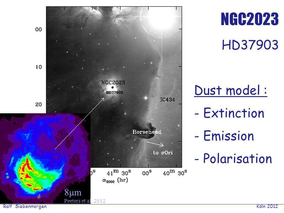 Ralf Siebenmorgen Köln 2012 PAH in a mono-energetic heating bath if | U f – U i – hν | < ½ ΔU f : A fi = K ν F ν / hν Siebenmorgen & Krűgel (2010) PAH emission from disks