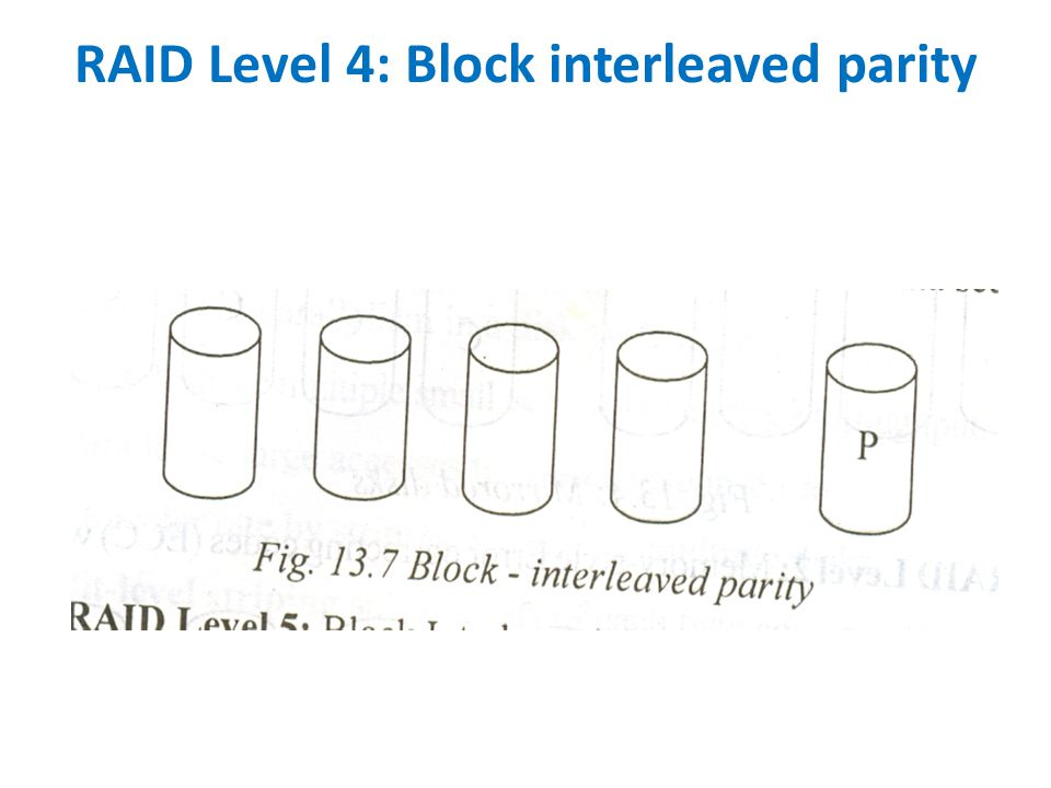 RAID Level 4: Block interleaved parity