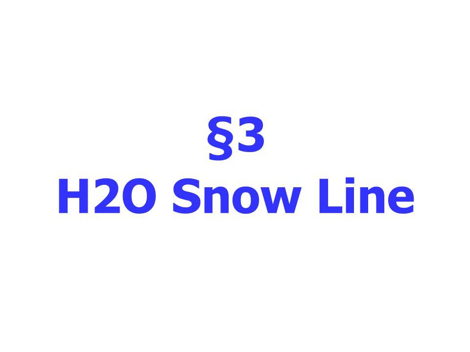 §3 H2O Snow Line